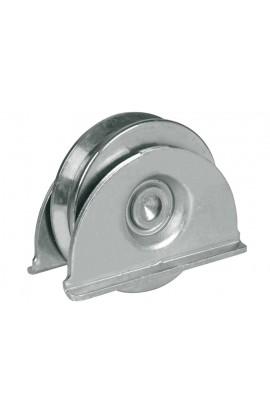 Ruota con piastra - 1 cuscinetto MM 80